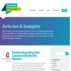 Understanding the Content Maturity Model - Content Strategy Inc.