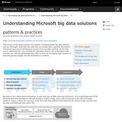 Understanding Microsoft big data solutions