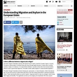 Understanding Migration and Asylum in the European Union