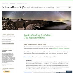 Understanding Evolution: The Misconceptions