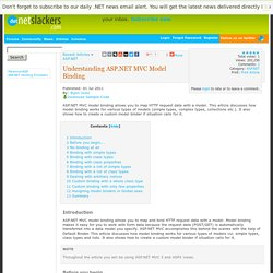 Understanding ASP.NET MVC Model Binding