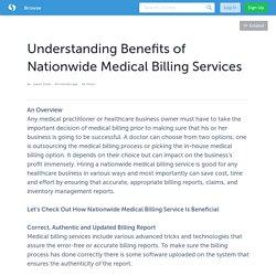 Understanding Benefits of Nationwide Medical Billing Services