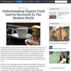 Understanding Organic Food And Its Necessity In The Modern World