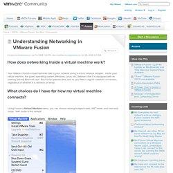 Understanding Networking in VMware Fusion