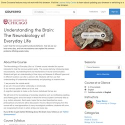 Understanding the Brain: The Neurobiology of Everyday Life - The University of Chicago