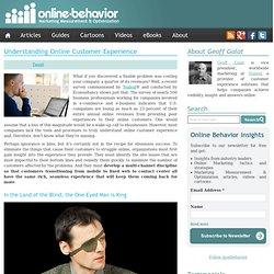 Understanding Online Customer Experience