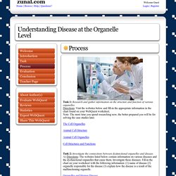 Understanding Disease at the Organelle Level: created with Zunal WebQuest Maker