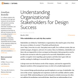 Understanding Organizational Stakeholders for Design Success