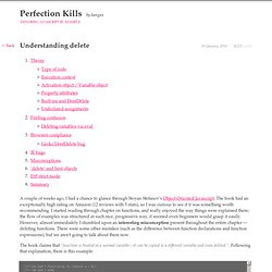 Perfection kills » Understanding delete