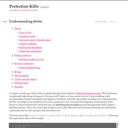 Perfection kills » Understanding delete