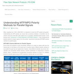 Understanding MTP/MPO Polarity Methods for Parallel Signals