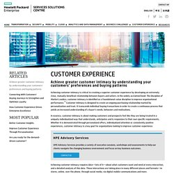 Achieve greater customer intimacy by understanding your customers' preferences and buying patterns