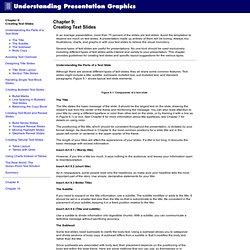 Understanding Presentation Graphics