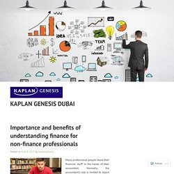 Importance and benefits of understanding finance for non-finance professionals