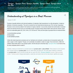 Understanding of Pyrolysis in a Brief Manner