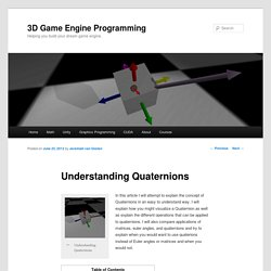 Understanding Quaternions3D Game Engine Programming