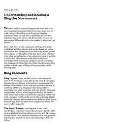 Understanding and Reading a Blog -- John C. Dvorak