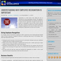 Understanding Why Employee Recognition Is Important