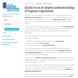 Guide to an in-depth understanding of logistic regression