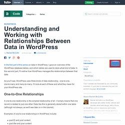 Understanding and Working with Relationships Between Data in WordPress - Tuts+ Code Tutorial