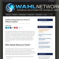 Understanding Resource Pools in VMware vSphere - Wahl Network