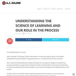 Understanding The Science Of Learning And Our Role In The Process