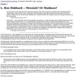 Understanding Scientology / Chapter 2: L. Ron Hubbard