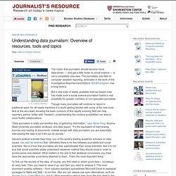 Understanding data journalism: Overview of resources, tools and topics