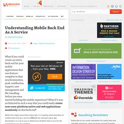 Understanding Mobile Back End As A Service
