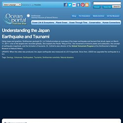 Understanding the Japan Earthquake and Tsunami