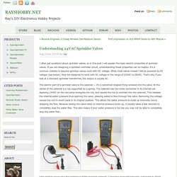Understanding 24VAC Sprinkler Valves