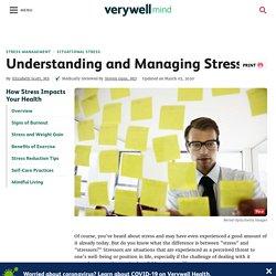 Understanding and Managing Stressors