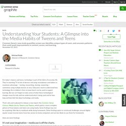 Understanding Your Students: A Glimpse into the Media Habits of Tweens and Teens