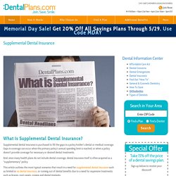 Understanding Supplemental Dental Insurance