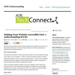 » Making Your Website Accessible Part 1: understanding WCAG ACRL TechConnect Blog