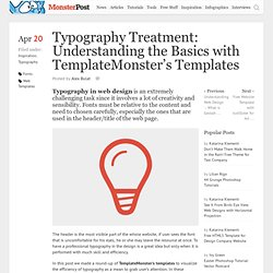 Typography Treatment: Understanding the Basics with TemplateMonster's Templates