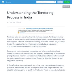 Understanding the Tendering Process in India