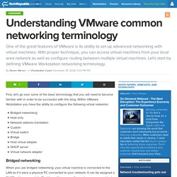 Understanding VMware common networking terminology