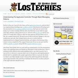 Understanding The Application Controller Through Object Messaging Patterns