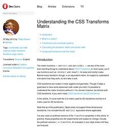 Understanding the CSS Transforms Matrix