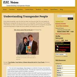 Understanding Transgender People