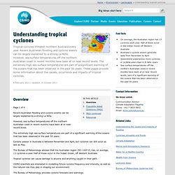 Understanding tropical cyclones