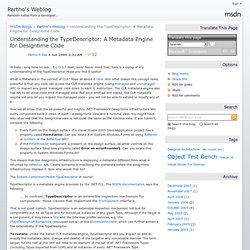 Understanding the TypeDescriptor: A Metadata Engine for Designtime Code - Partho's Weblog