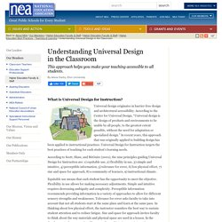 Understanding Universal Design in the Classroom