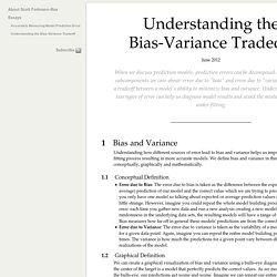Understanding the Bias-Variance Tradeoff