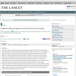 Understanding regional variation in the use of surgery