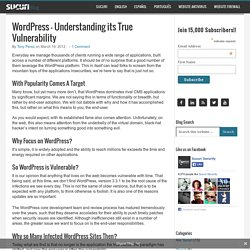 WordPress – Understanding its True Vulnerability