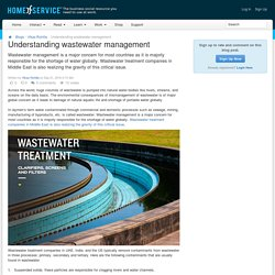 Understanding wastewater management - Home of Service