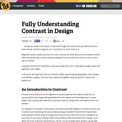 Fully Understanding Contrast in Design