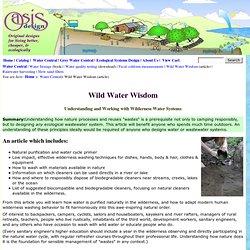 Understanding Wild Water